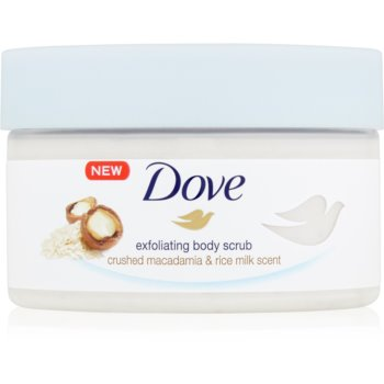 Dove Exfoliating Body Scrub Crushed Macadamia & Rice Milk Exfoliant hrãnitor pentru corp poza
