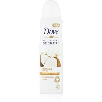Dove Nourishing Secrets Restoring Ritual spray anti-perspirant cu o eficienta de 48 h