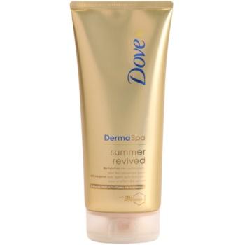 Dove Derma Spa Summer Revived tónovacie mlieko s efektom jemného opálenia