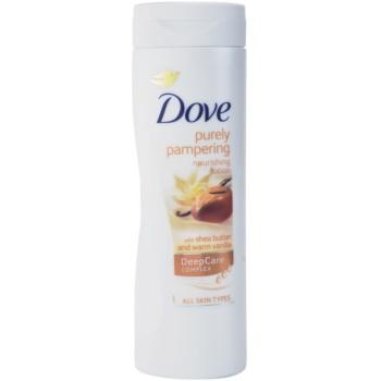 Dove Purely Pampering Shea Butter vyživující tělové mléko bambucké máslo a vanilka 400 ml