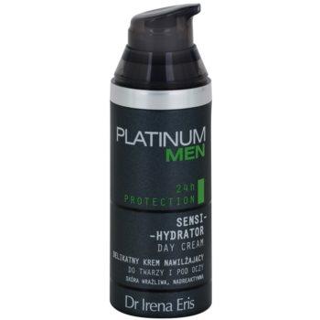 Dr Irena Eris Platinum Men 24 h Protection денний зволожуючий та захисний крем для обличчя та шкіри навколо очей 1