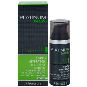 Dr Irena Eris Platinum Men 24 h Protection денний зволожуючий та захисний крем для обличчя та шкіри навколо очей 2