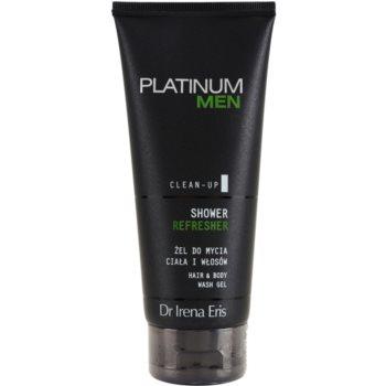 Fotografie Dr Irena Eris Platinum Men Clean-Up osvěžující sprchový gel na tělo a vlasy 200 ml