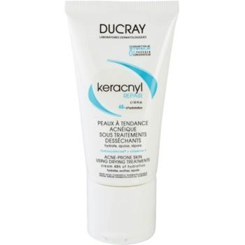 Ducray Keracnyl crema regeneratoare si hidratanta pentru piele uscata si iritata in urma tratamentului antiacneic