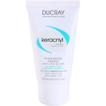 Fotografie Ducray Keracnyl čisticí maska pro smíšenou a mastnou pleť 40 ml