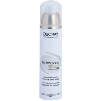 Fotografie Ducray Melascreen noční výživný krém proti pigmentovýn skvrnám a vráskám 50 ml