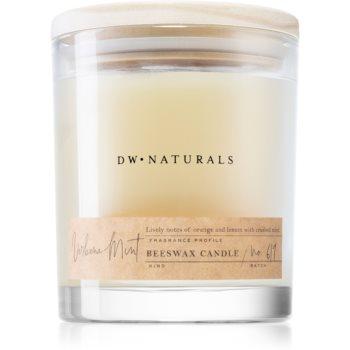 DW Home Beeswax Verbena Mint lumânare parfumată
