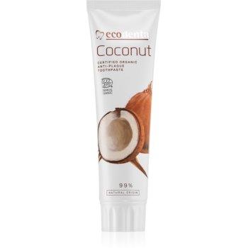 Ecodenta Cosmos Organic Coconut Fluorfreie Zahnpasta zur Stärkung des Zahnschmelzes 100 ml