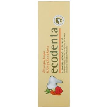 Ecodenta Kids pasta do zębów dla dzieci z aromatem dzikich truskawek i ekstrakt z marchwi 2
