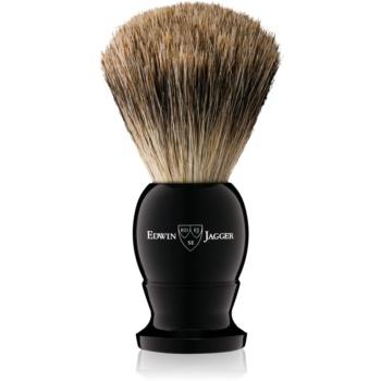 Edwin Jagger Silver Tip Ebony Pamatuf pentru barbierit Large