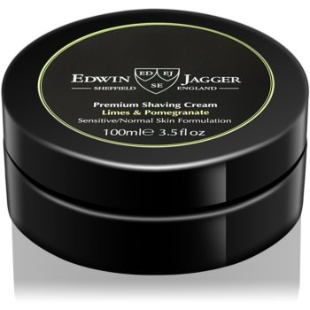 EDWIN JAGGER Limes & Pomegranate crema de barbierit pentru ten mixt