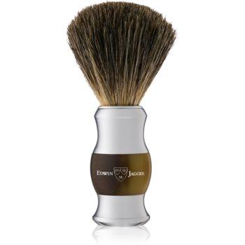 Edwin Jagger Best Badger Light Horn & Chrome Pamatuf pentru barbierit