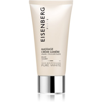 Eisenberg Pure White Massage Crème Lumière pleťový masážní krém pro rozjasnění a hydrataci 75 ml
