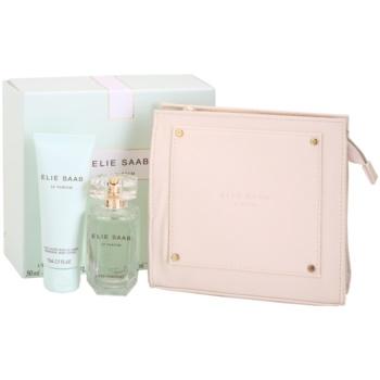 Elie Saab Le Parfum L'Eau Couture dárková sada I. toaletní voda 50 ml + tělové mléko 75 ml + kosmetická taška