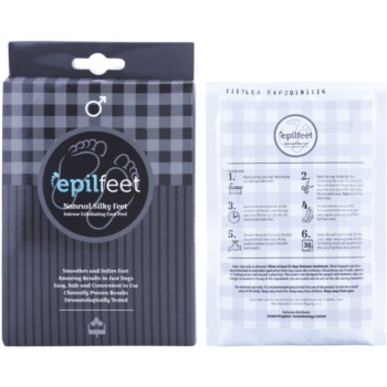 Epilfeet Men ексфолиращи чорапи за омекотяване и хидратиране кожата на краката. 2