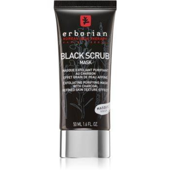 Erborian Black Scrub Mask mască facială exfoliantă, pentru curățare