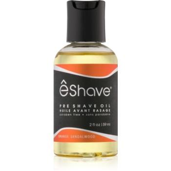 eShave Orange Sandalwood ulei înainte de ras