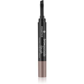 Essence Brow Pomade + Brush creion pentru sprancene cu pensula imagine produs