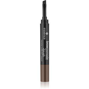 Essence Brow Pomade + Brush creion pentru sprancene cu pensula poza noua