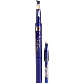 Estée Lauder Automatic svinčnik za obrvi s čopičem in polnilom 3