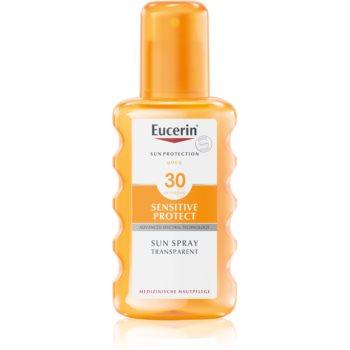 eucerin sun sensitive protect spray transparent pentru bronzare spf30