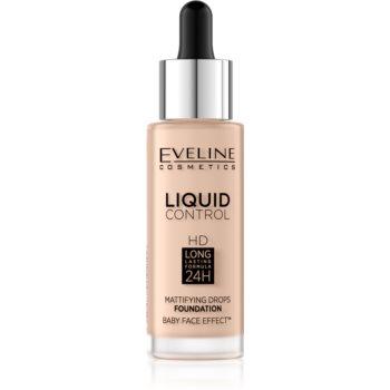 Eveline Cosmetics Liquid Control tekutý make-up s pipetou odstín 03 Sand Beige 32 ml
