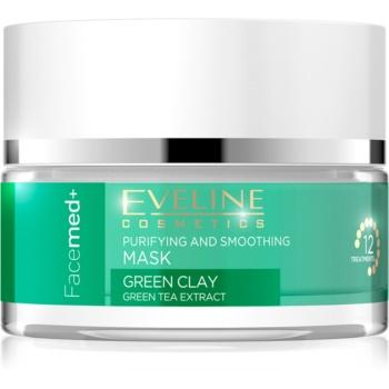 Eveline Cosmetics FaceMed+ čisticí a vyhlazujicí pleťová maska se zeleným jílem 50 ml