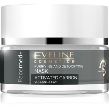 Eveline Cosmetics FaceMed+ čisticí a detoxikační maska s aktivním uhlím 50 ml
