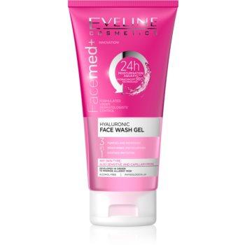 Eveline Cosmetics FaceMed+ gel de curatare 3 in 1 cu acid hialuronic