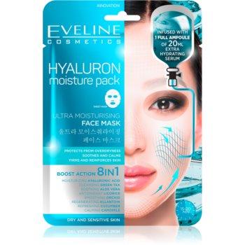 Eveline Cosmetics Hyaluron Moisture Pack mască cu efect calmant și super hidratant poza noua