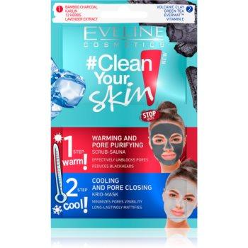 Eveline Cosmetics #Clean Your Skin masca pentru curatare profunda 2 in 1 imagine
