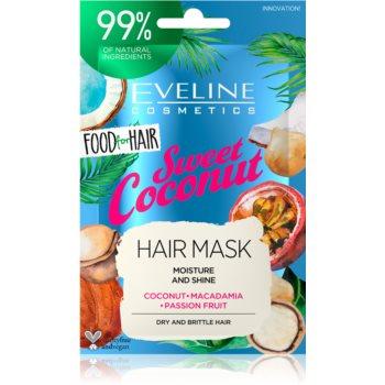 Eveline Cosmetics Food for Hair Sweet Coconut Masca hidratanta par imagine