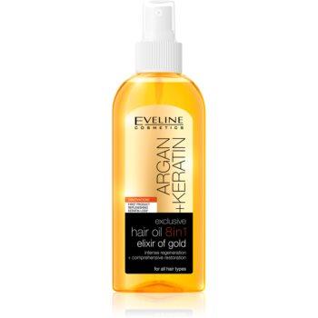 Eveline Cosmetics Argan + Keratin ulei pentru par 8 in 1 imagine produs