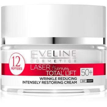 Eveline Cosmetics Laser Therapy Total Lift crema anti-rid de zi si de noapte 50+ imagine produs