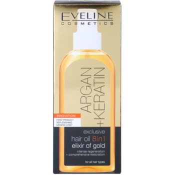 Eveline Cosmetics Argan + Keratin олио за коса 8 в 1 4