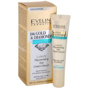 Eveline Cosmetics 24k Gold & Diamonds verjüngende Augencreme 1