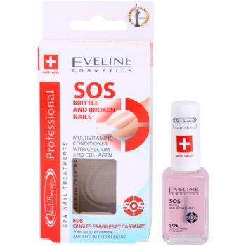 Eveline Cosmetics Nail Therapy мултивитаминен балсам с калций 2