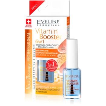 Eveline Cosmetics Nail Therapy Professional balsam pentru unghii cu vitamine 6 in 1  12 ml
