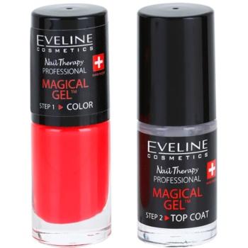 Eveline Cosmetics Nail Therapy Professional gel de unghii fara utilizarea UV sau lampa LED culoare 07  2 x 5 ml