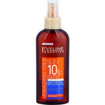 Fotografie Eveline Cosmetics Sun Care olej na opalování ve spreji SPF 10 150 ml