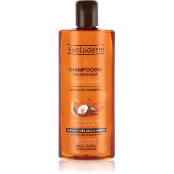 Evoluderm Argan Divin Șampon nutritiv cu ulei de argan marocan pentru par uscat si deteriorat
