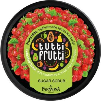 Farmona Tutti Frutti Wild Strawberry peeling corporal cu zahar