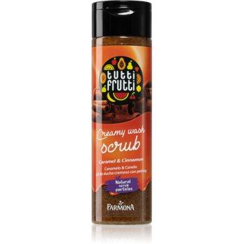 Farmona Tutti Frutti Caramel & Cinnamon exfoliant cremos usor de spalat