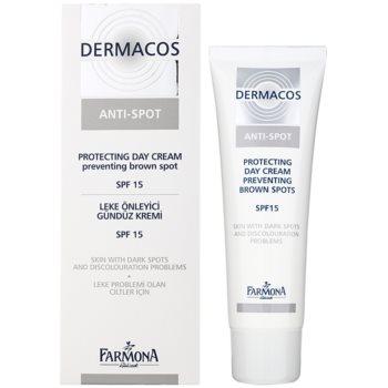 Farmona Dermacos Anti-Spot cremă protectoare de zi pentru a preveni petele pigmentare SPF 15 1