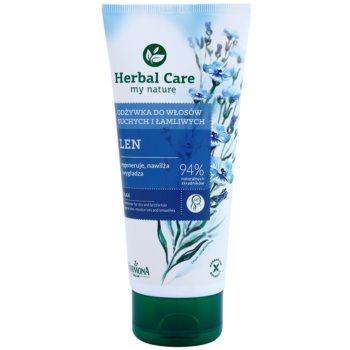 Farmona Herbal Care Flax Seed balsam regenerator pentru par uscat si fragil