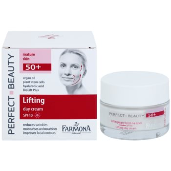 Farmona Perfect Beauty 50+ liftingujący krem na dzień SPF 10 1
