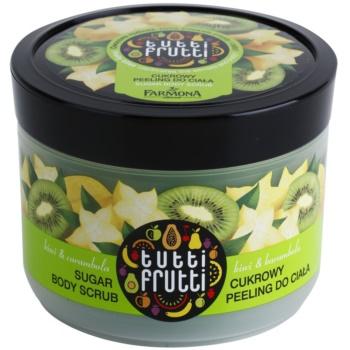 Farmona Tutti Frutti Kiwi & Carambola exfoliant din zahar pentru corp