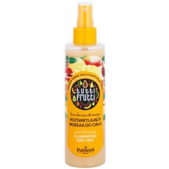 Farmona Tutti Frutti Peach & Mango ceață de corp hrănitoare, cu sclipici și efect de netezire