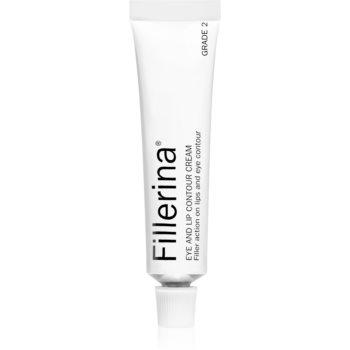 Fillerina Eye and Lip Contour Cream Grade 2 crema anti-rid pentru conturul ochilor si buzelor poza noua