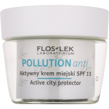 FlosLek Laboratorium Pollution Anti cream activa de zi SPF 15